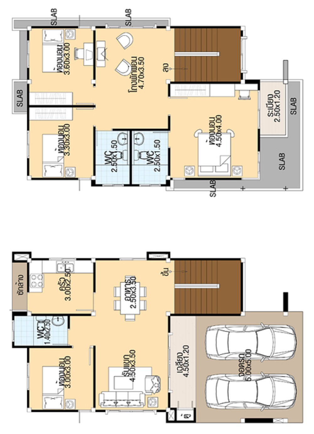 House Plans 3d 7 5x13 With 4 Bedrooms House Plans 3d