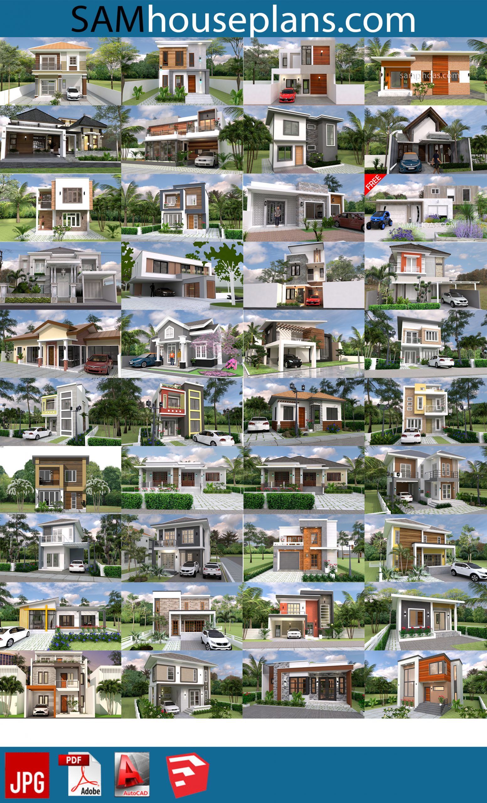 66 House Design Plans for sell 1