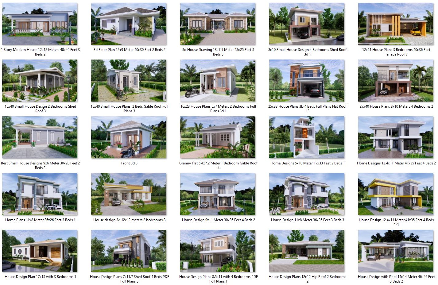 74 House Design Plans Available For Sell 01
