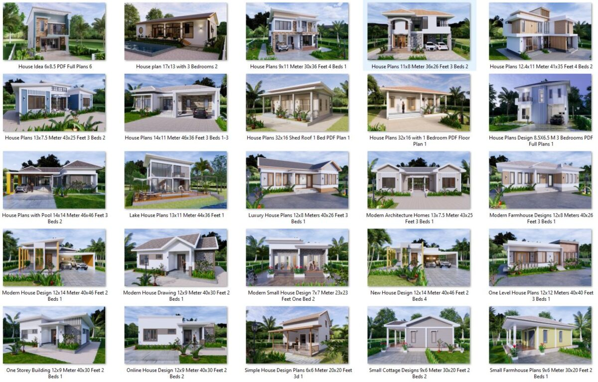 74 House Design Plans Available For Sell 02