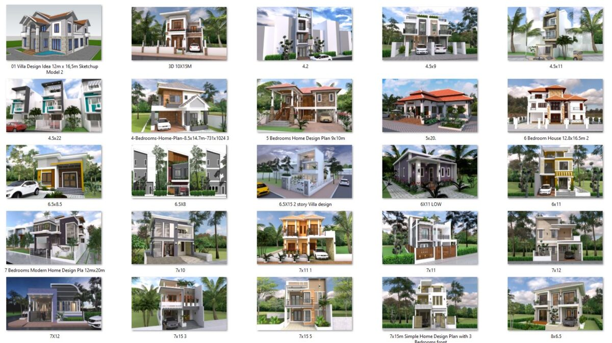 127 House Design Plans Now Available for Sell